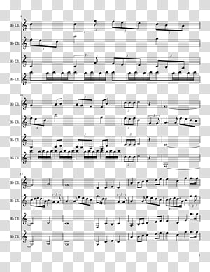 Sheet Music The Imperial March Bass clarinet Music of Star Wars, sheet music PNG clipart