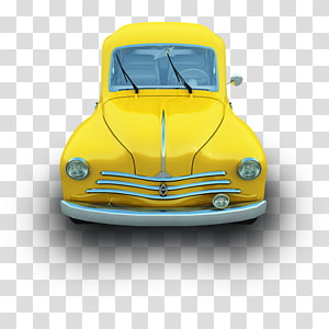 yellow vehicle illustration, classic car automotive exterior compact car illustration, Fiat 48 PNG clipart