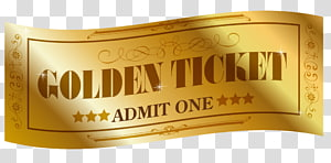 Willy Wonka Golden Ticket YouTube Raffle, youtube PNG clipart