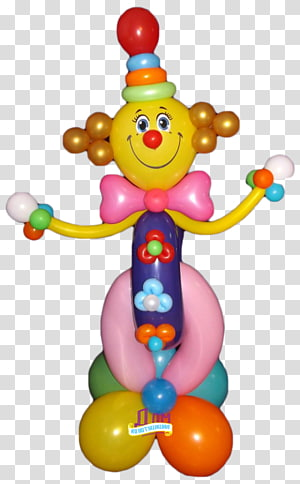 Balloon Toy Infant Clown, balloon PNG