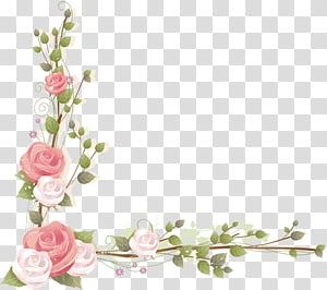 fresh flowers corner PNG