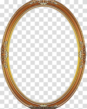 brown frame, frame Circle Wood, Round Frame PNG clipart