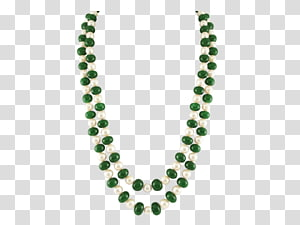 Emerald Necklace Bead Pearl Jewellery, emerald PNG