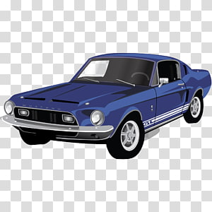 blue Ford Mustang Shelby GT350 coupe drawing, classic car automotive exterior muscle car brand, Muscle Car Mustang GT PNG clipart
