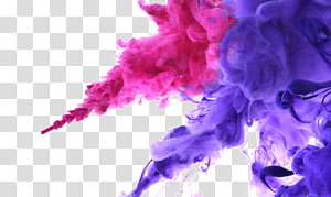 Water blooming color ink, of pink and purple smoke PNG clipart