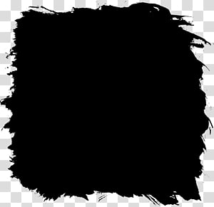 Black and white Square Paint, squares PNG clipart