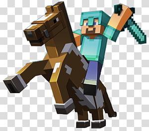 Minecraft character illustration, Minecraft: Pocket Edition Minecraft: Story Mode Terraria Horse, Minecraft PNG