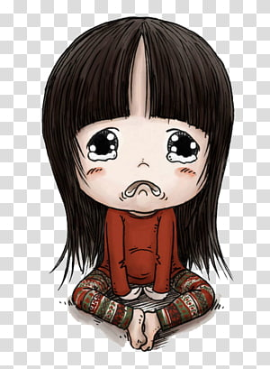 girl illustration, Cartoon Crying Girl, Cute little girl PNG clipart