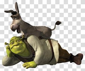 Shrek Donkey Princess Fiona Gingerbread Man Puss in Boots, donkey PNG