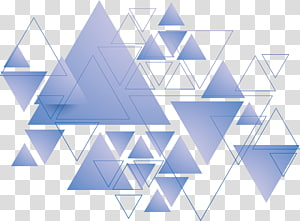 Triangle Geometry, Blue triangle, triangles artwork PNG