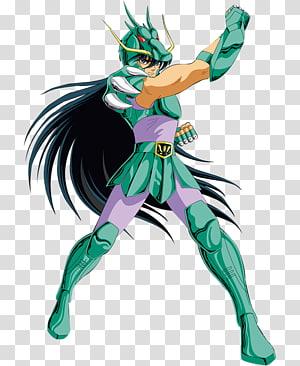 black haired female anime character, Dragon Shiryū Pegasus Seiya Libra Dohko Phoenix Ikki Saint Seiya: Knights of the Zodiac, Knight PNG clipart