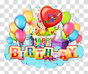 Birthday Greeting card Wedding invitation Wish E-card, Happy Birthday Decor , Happy Birthday sticker screenshot PNG clipart