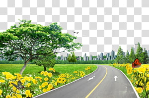 Road Pixel , Lawn on the road PNG clipart