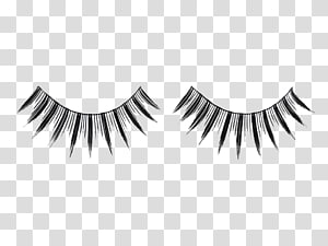 black false eyelashes PNG