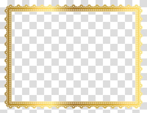 brown border, Yellow Area Pattern, Gold Border Frame PNG clipart