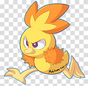 Flowering plant Cartoon Character , Torchic PNG