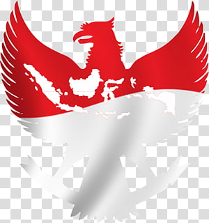 red and white bird logo, National emblem of Indonesia Garuda, others PNG clipart