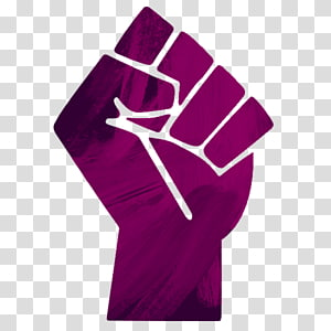Raised fist Black Power Black Panther Party, symbol PNG