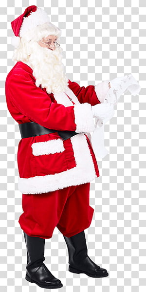 red dress santa claus PNG clipart