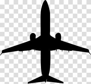 Airplane Silhouette , plane silhouette figures material PNG