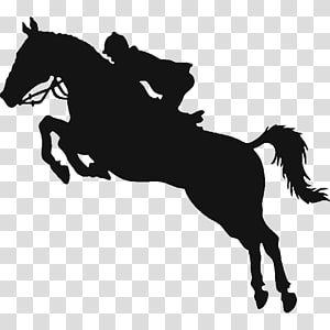 Horse show Equestrian Show jumping, Black Horse Logo PNG