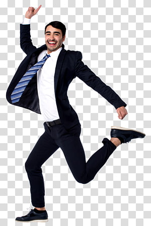 Businessperson , woman jumping PNG