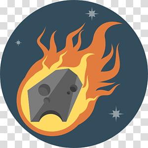 flaming illustration, carnivoran snout fictional character computer illustration, Meteor PNG