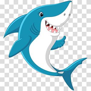 blue shark illustration, Shark Eating Fish , sharks PNG clipart