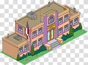 The Simpsons: Tapped Out Marge Simpson Bart Simpson Lisa Simpson Homer Simpson, Of School Building PNG