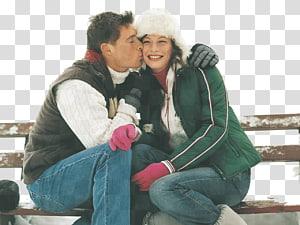Love Romance Kiss Christmas Feeling, couples PNG