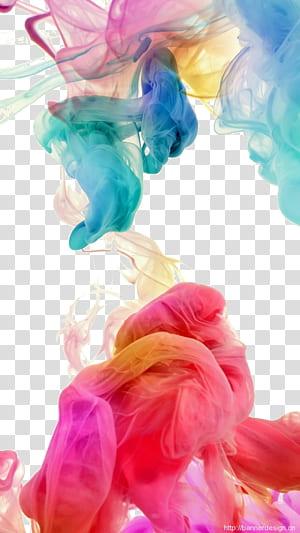 colorful smoke, smoke, multicolored smoke illustration PNG