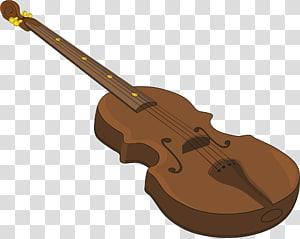Acoustic guitar Bass violin Cartoon, Coffee cartoon violin PNG