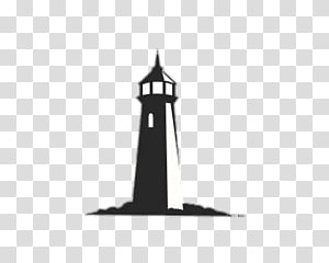 black lighthouse illustration, Lighthouse PNG