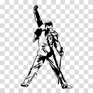 Freddy Mercury art, Decal Bumper sticker Queen The Freddie Mercury Tribute Concert, queen PNG