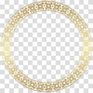 frame Gold , Round Gold Border Frame , round brown frame against blue background PNG clipart