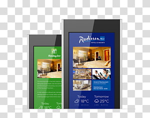 Digital Signs Display advertising Signage Hotel, Signage Solution PNG clipart