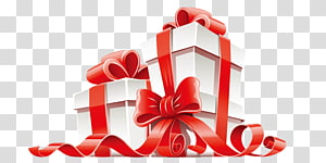 white christmas gift box PNG