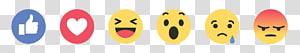 Facebook Reaction illustration, Facebook like button Facebook like button Social media YouTube, facebook reaction PNG clipart