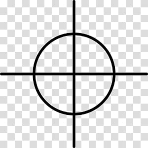 Reticle Telescopic sight , crosshair PNG