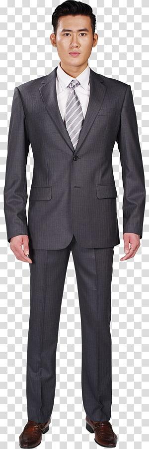 Tuxedo M. Business, Gray Suit PNG