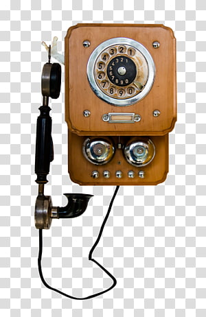 vintage brown rotary telephone, Telephone Pixabay Icon, Vintage Telephone PNG clipart