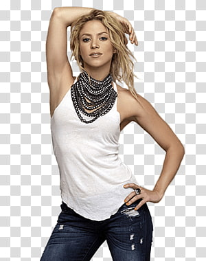 Shakira , Shakira White Tshirt PNG clipart