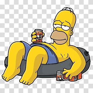 Homer Simpson Bart Simpson Mr. Burns Marge Simpson Sticker, Bart Simpson PNG