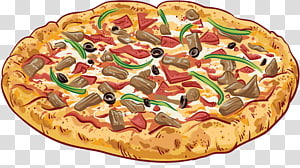 Pizza Sausage Italian cuisine Take-out Delivery, A pizza PNG clipart