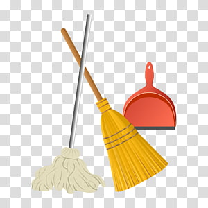 Broom Mop Cleaning Tool Housekeeping PNG clipart