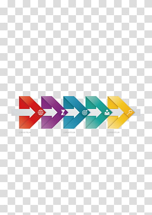 multicolored arrow , Chart Diagram Data, ppt element PNG clipart