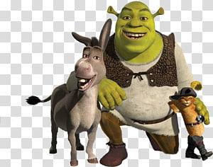 Shrek 2 Donkey Puss in Boots Princess Fiona, shrek PNG