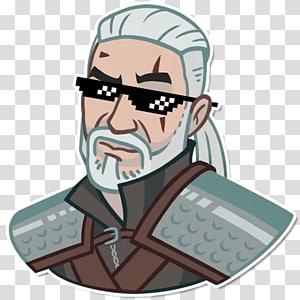 The Witcher 3: Wild Hunt – Blood and Wine Geralt of Rivia Telegram Sticker, Steam Tank PNG