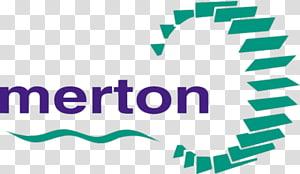 blue and green Merton logo, London Borough Of Merton PNG