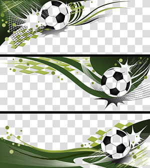 green soccer ball art, Football Banner Illustration, Creative football banners PNG clipart
